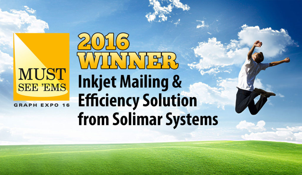 Inkjet Mailing and Efficiency - A Graph Expo 2016 Must-See Solutions. Solimar Systems . Chemistry . Graph Expo