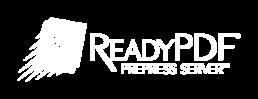 ReadyPDF Prepress Server Logo - White